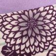 画像3: 半幅帯 H・L(アッシュ・エル)ブランド 長尺 420cm リバーシブル 半巾帯 合繊【紫系、菊】 (3)