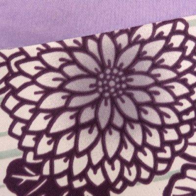 画像3: 半幅帯 H・L(アッシュ・エル)ブランド 長尺 420cm リバーシブル 半巾帯 合繊【紫系、菊】