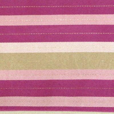 画像4: <在庫処分セール!>半幅帯 H・L(アッシュ・エル)ブランド 長尺 420cm リバーシブル 半巾帯 合繊【ピンクパープル系、横縞】
