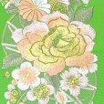 画像3: 振袖用 半衿  華やかなパール刺繍入りの半襟 合繊 日本製 変わり色【黄緑、バラと菊】 (3)