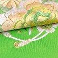 画像4: 振袖用 半衿  華やかなパール刺繍入りの半襟 合繊 日本製 変わり色【黄緑、バラと菊】 (4)