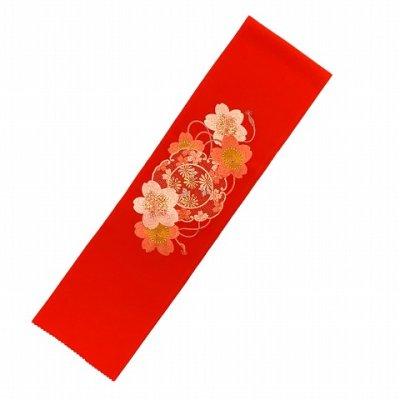 画像2: 振袖用 半衿  華やかなパール刺繍入りの半襟 合繊 日本製 変わり色【赤、桜】