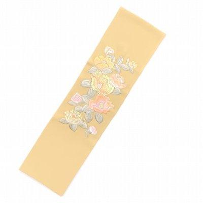 画像2: 振袖用 半衿  華やかなパール刺繍入りの半襟 合繊 日本製 変わり色【クリーム、椿】