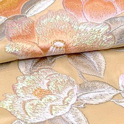 画像4: 振袖用 半衿  華やかなパール刺繍入りの半襟 合繊 日本製 変わり色【クリーム、椿】