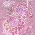 画像3: 半衿 女性用 振袖に 華やかなパール刺繍入りの半襟 合繊 日本製 変わり色【薄紫、菊】 (3)