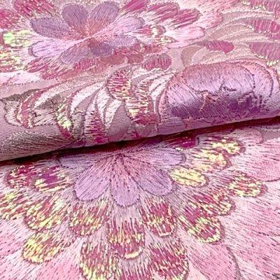 画像4: 半衿 女性用 振袖に 華やかなパール刺繍入りの半襟 合繊 日本製 変わり色【薄紫、菊】