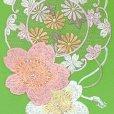 画像3: 半衿 振袖に 華やかな刺繍入りの半襟 合繊 日本製 変わり色【ひわ色、桜】 (3)