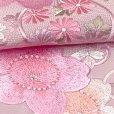 画像4: 半衿 振袖に 華やかな刺繍入りの半襟 合繊 日本製 変わり色【ピンク、桜】 (4)