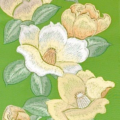 画像3: 半衿 振袖に 華やかな刺繍入りの半襟 合繊 日本製 変わり色【ひわ色、椿】
