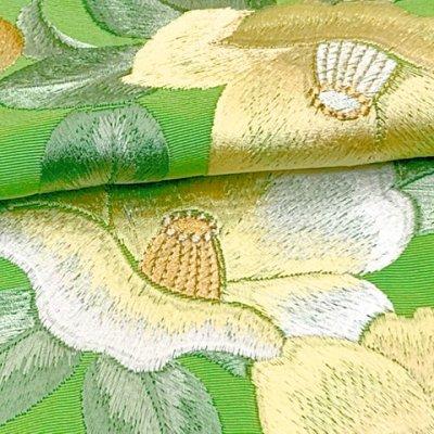 画像4: 半衿 振袖に 華やかな刺繍入りの半襟 合繊 日本製 変わり色【ひわ色、椿】