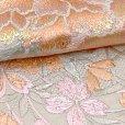 画像4: 半衿 振袖に 華やかな刺繍入りの半襟 合繊 日本製 変わり色【スキンベージュ、牡丹】 (4)