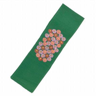 画像2: 【アウトレット 美品】京都室町st★半衿 華やかな刺繍入りの半襟 絹交織 変わり色【緑、菊】