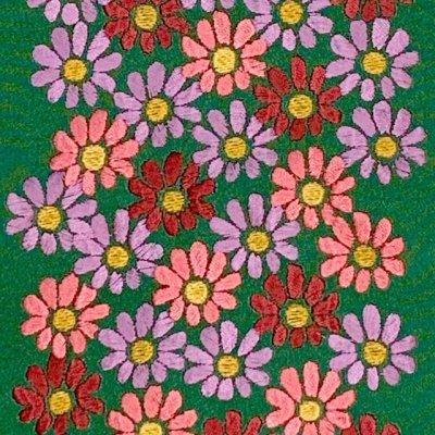 画像3: 【アウトレット 美品】京都室町st★半衿 華やかな刺繍入りの半襟 絹交織 変わり色【緑、菊】