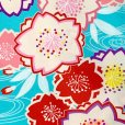 画像4: 袴セット 卒業式 女子用 短尺 古典柄の小振袖(二尺袖の着物)と無地袴のセット【水色、梅】