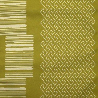 画像2: 八寸名古屋帯 合繊 小紋などに 八寸帯 仕立て上がり【緑 紗綾形】