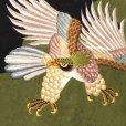 画像3: お宮参り 着物 男の子 日本製 正絹 本絞り 総刺繍柄 赤ちゃんのお祝い着 産着(初着)【黒×緑 鷹】