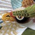 画像6: お宮参り 着物 男の子 日本製 正絹 本絞り 総刺繍柄 赤ちゃんのお祝い着 産着(初着)【黒×緑 鷹】