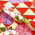 画像5: 子供着物アンサンブル 正月、雛祭り等に 着物と羽織 4点セット 120サイズ【赤 鱗】