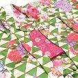 画像3: 子供着物アンサンブル 正月、雛祭り等に 着物と羽織 4点セット 130サイズ【緑 鱗】