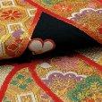 画像4: 西陣織 高級 子供袋帯 全通 仕立て上がり 十三参り 七五三に【黒地、竹梅】 (4)