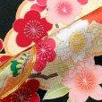 画像5: 七五三 着物 7歳女の子 2020年新作 日本製 絵羽柄の子ども着物フルセット(正絹)【黒地、雲に鈴・梅】