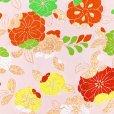 画像3: 七五三 袋帯 正絹 桐生織 こども・ジュニア用 日本製 全通の女の子用祝帯 仕立て上がり【生成り、辻が花】