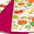 画像4: 七五三 袋帯 正絹 桐生織 こども・ジュニア用 日本製 全通の女の子用祝帯 仕立て上がり【生成り、辻が花】