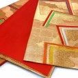 画像4: 七五三 袋帯 正絹 桐生織 こども・ジュニア用 日本製 全通の女の子用祝帯 仕立て上がり【金、角】