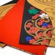 画像4: 七五三 袋帯 正絹 ジュニア用 日本製 全通の女の子用祝帯 仕立て上がり【黒x金、梅】