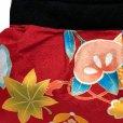 画像2: 和柄の手提げ和柄ミニバッグ 手提げ袋 ポーチ 着物や浴衣姿に【赤、橘と宝】 (2)