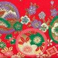 画像3: 七五三 バッグ 子供用 金襴生地のバッグ 合繊【朱赤、桜と梅】 (3)