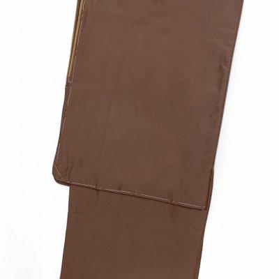 画像2: <セール!>着物 男性用 洗える着物 袷 メンズ 国産生地 紬風着物 Lサイズ【茶色】
