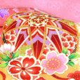 画像5: お宮参り 着物 女の子 日本製 正絹 金駒刺繍入り 赤ちゃんのお祝い着 産着 初着【ピンク 鞠に雲】 (5)