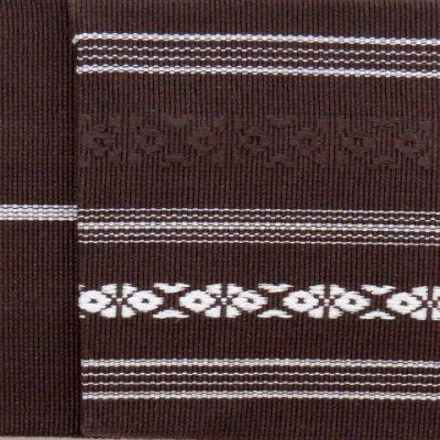 画像2: 角帯 献上柄のメンズ角帯 綿100% 日本製 浴衣や着物に【こげ茶 献上柄】