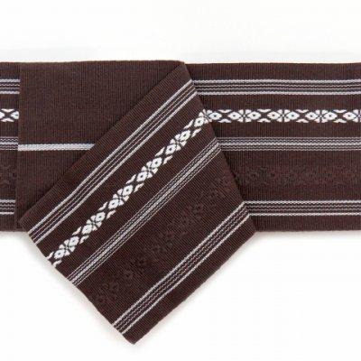 画像3: 角帯 献上柄のメンズ角帯 綿100% 日本製 浴衣や着物に【こげ茶 献上柄】