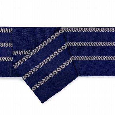 画像2: 角帯 メンズ角帯 日本製 浴衣や着物に【紺、二本線】