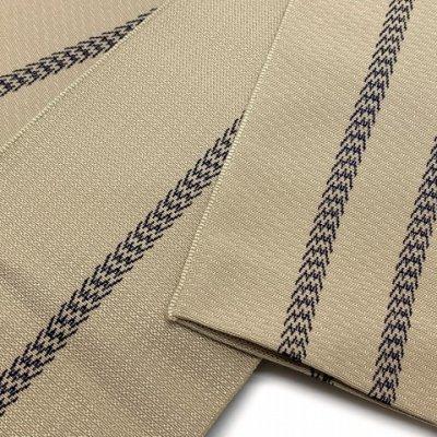 画像3: 角帯 メンズ角帯 日本製 浴衣や着物に【ベージュ系、二本線】
