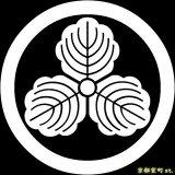 [貼り付け家紋(家紋シール)]丸に三つ柏