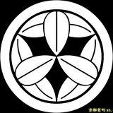 [貼り付け家紋(家紋シール)]丸に九枚笹