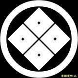 [貼り付け家紋(家紋シール)]丸に隅立ち四つ目
