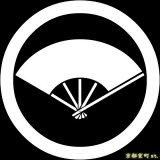 [貼り付け家紋(家紋シール)]丸に五本骨扇