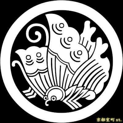 画像1: [貼り付け家紋(家紋シール)]丸に揚羽蝶