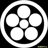 [貼り付け家紋(家紋シール)]丸に星梅鉢