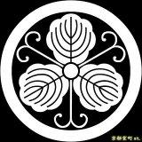[貼り付け家紋(家紋シール)]丸につる柏