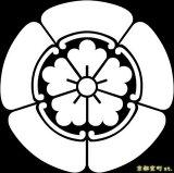 [貼り付け家紋(家紋シール)]五瓜に唐花