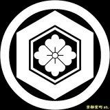 [貼り付け家紋(家紋シール)]丸に亀甲花角