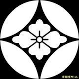 [貼り付け家紋(家紋シール)]七宝に花菱