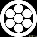 [貼り付け家紋(家紋シール)]丸に七曜