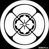 [貼り付け家紋(家紋シール)]丸に四方木瓜