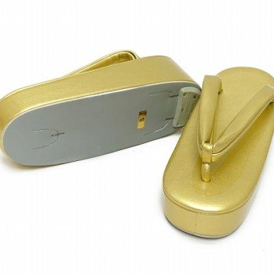 画像3: 草履 礼装用 シンプルな無地の草履 Sサイズ 【ゴールド】